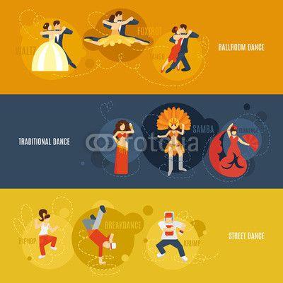 Wektor: Dance Banner Set