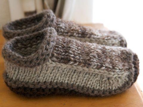 Non-felted Slippers by Yuko Nakamura (free knitting pattern)
