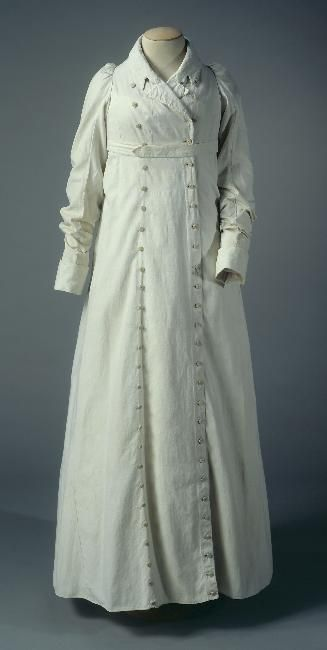 Redingote: ca. 1805-1810, cotton, buttons. Object Number: GAL1952.5.103