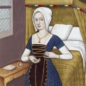 XXIX-Argia, fille d'Adraste (roi d'Argos) et épouse de Polynice, un des fils d'Œdipe et de Jocaste (ARGIA, wife of Polynices and daughter of King Adrastus) -- Giovanni Boccaccio (1313-1375), Le Livre des cleres et nobles femmes, v. 1488-1496, Cognac (France), traducteur anonyme. -- Illustrations painted by Robinet Testard -- BnF Français 599 fol. 24v -- See also at: https://commons.wikimedia.org/wiki/File:Argia_BnF_Fran%C3%A7ais_599_fol._24v.jpg