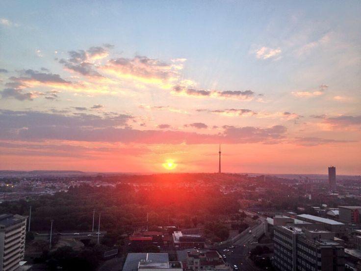 Sunset in Joburg