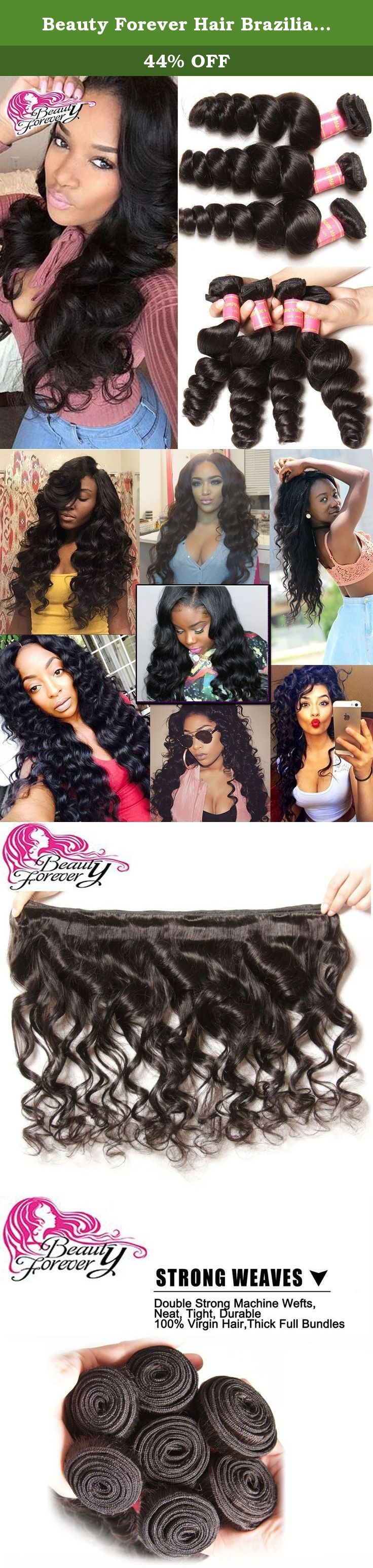 Beauty Forever Hair Brazilian Virgin Hair Loose Wave Weft 3bundles 100% Unprocessed Human Virgin Remy Hair Extensions Natural Color 95-100g/pc (16 16 16). Hair material: 100% virgin human hair without any synthetic hair, no animal hair Hair color: Natural color 1b# Hair density: thick enough Texture:loose wave Advantages: 1) Can be dyed and bleached 2) Tangle & Shedding free 3) Clean, soft and smooth, no bad smell All of beauty forever is 100% human virgin hair. with the cuticle layers...