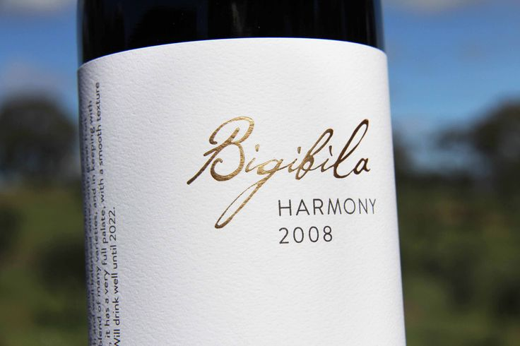 Bigibila Wines: Our sumptuous blend, aptly named Harmony. www.bigibila.com