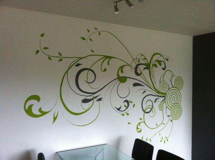 25 beste idee n over bloem muurschildering op pinterest geschilderde muurschilderingen en - Volwassen kamer decoratie ...