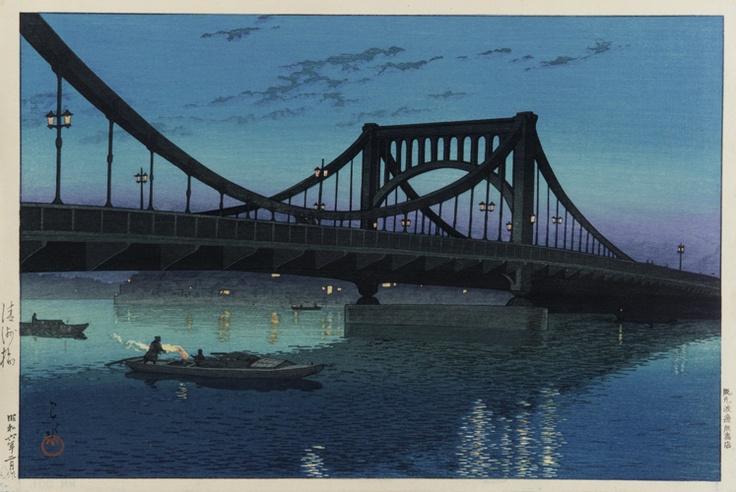 川瀬巴水「清洲橋」(1931) Woodcut