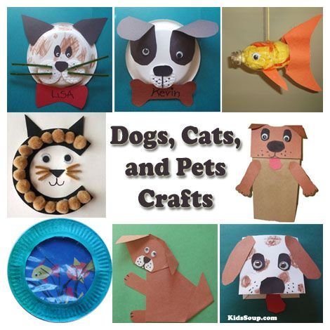Dogs, Cats, and Pets Crafts Ideas for Kids