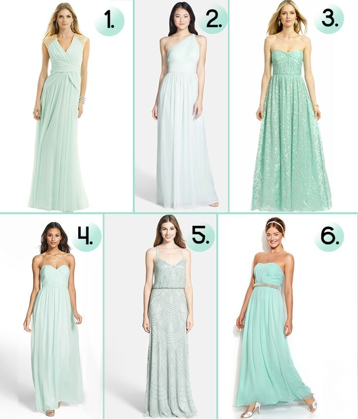 103 best images about bridesmaids dresses on pinterest for Mint and gold wedding dress