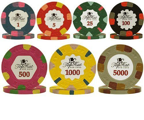 paulson world full clay poker chip sample set 7 new chips by paulson - Clay Poker Chips