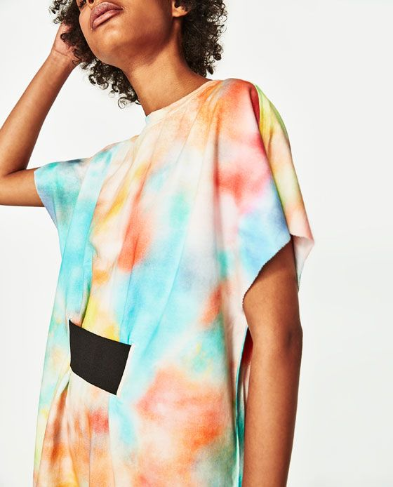 tie-dye dress / ZARA-TRF // all over print - 2017