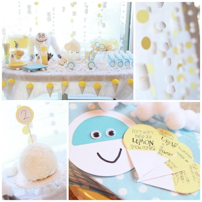 Abominable Snowman Themed 2nd Birthday Party by Kara's Party Ideas