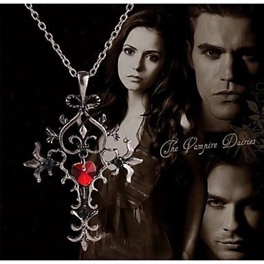 Movie Acc The Vampire Diaries Cross Pendant Necklace 2016 – $3.42