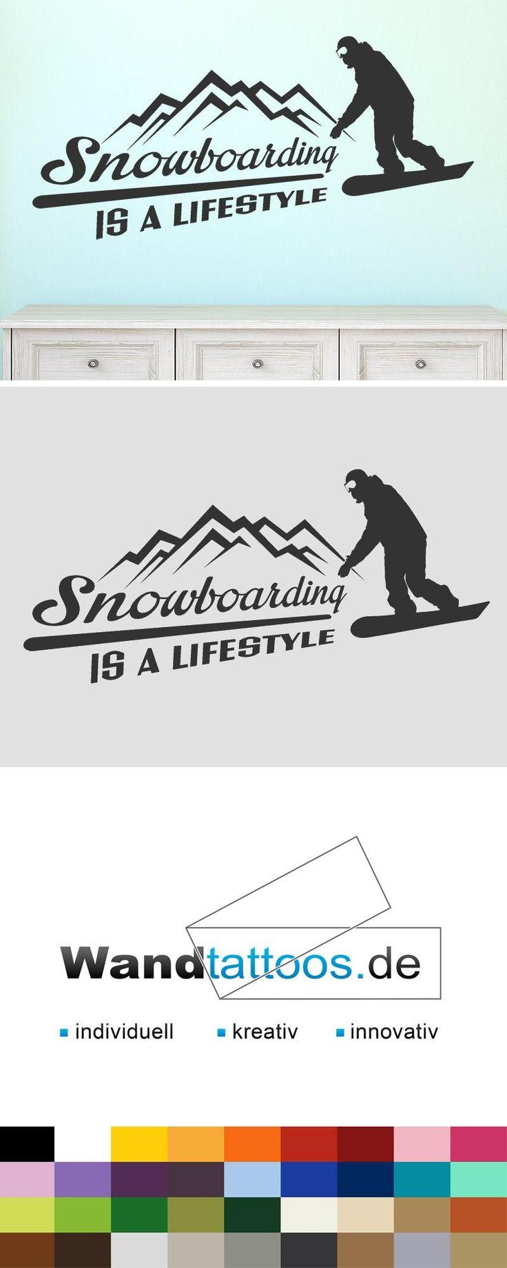Wandtattoo Snowboarding is a lifestyle als Idee zur individuellen Wandgestaltung. Einfach Lieblingsfarbe und Größe auswählen. Weitere kreative Anregungen von Wandtattoos.de hier entdecken!