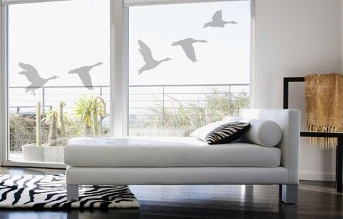 Frosted wild geese vinyl stickers from Fantastick Wall Décor (South Africa)  #wildgeese #southafrica