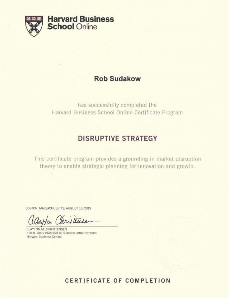 certificate harvard programs rob marketing strategic