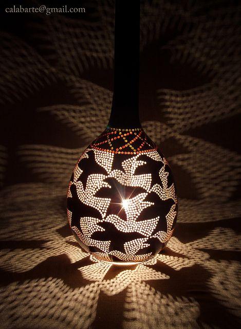 Calabarte gourd lamps.