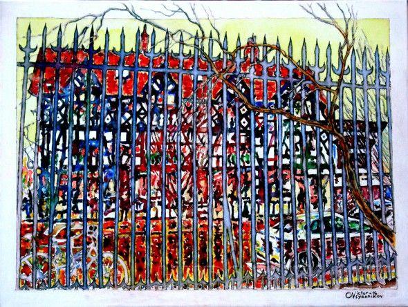 Принстонский фахверк  Фа́хверк  — тип строительной конструкции, при котором несущей основой служит пространственная секция из наклонных  балок. Эти балки видны с наружной стороны дома и придают зданию характерный вид;