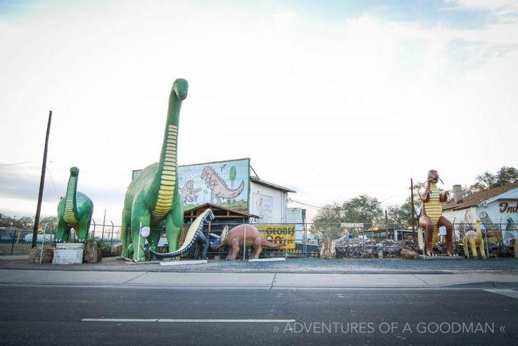 Dinosaurs live at the Indian Rock Shop — Holbrook, Arizona