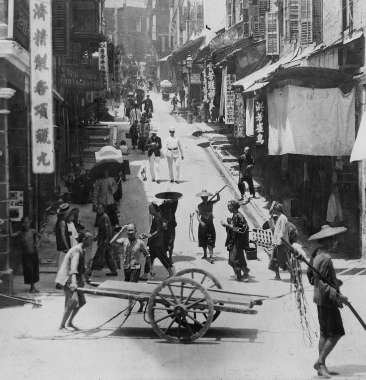 1000 Images About All About Hong Kong On Pinterest: Street Scene At Central District, Hong Kong, 1895 By