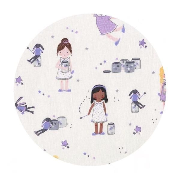 Sprinkle, Sprinkle Little Stars in Purple - Twinkle Fairies Collection - Michael Miller Fabrics – Pins & Needles Fabrics