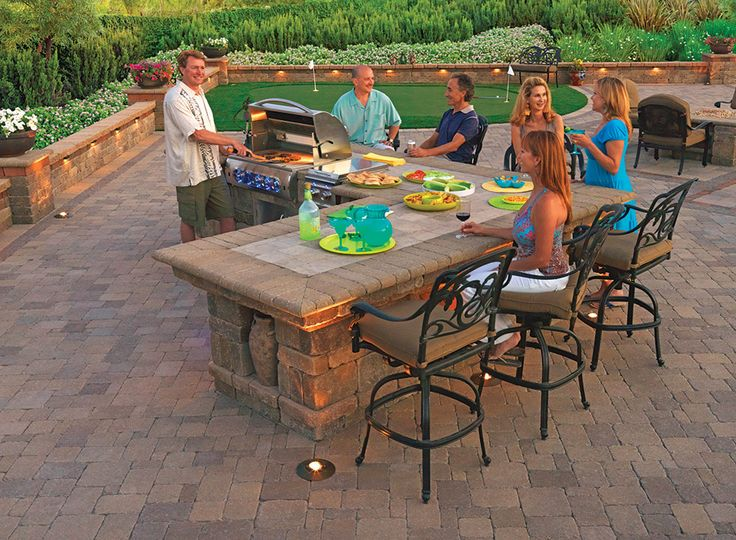 17 best built in grills bbq islands images on pinterest for Outdoor grill island ideas