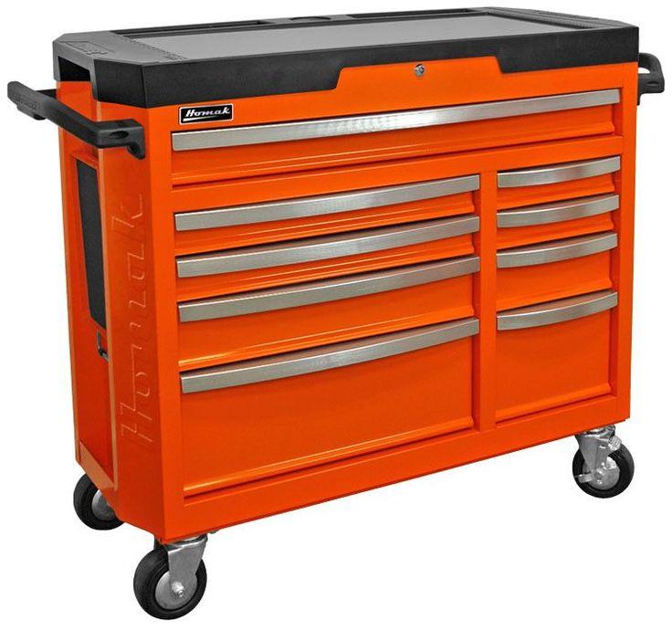 "Homak GT Series 9 Drawer Rolling Tool Box 42"" - GT04041091"
