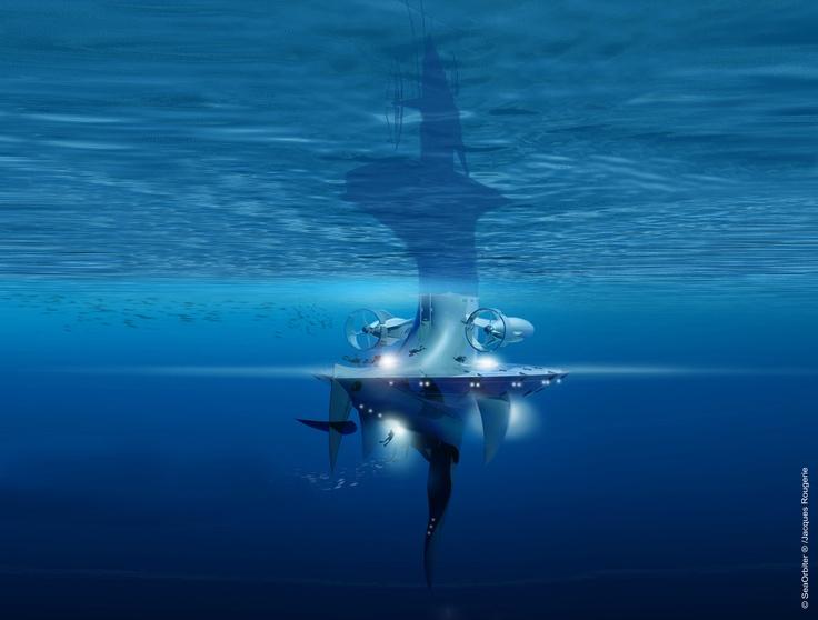 SeaOrbiter - Underwater Back View