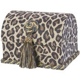 Found it at Wayfair - Espresso Envelope Chest with Button Knot, Tassel and Cord, Lined