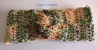 Capitan Uncinetto: Fascia per capelli o paraorecchie in lana Merino