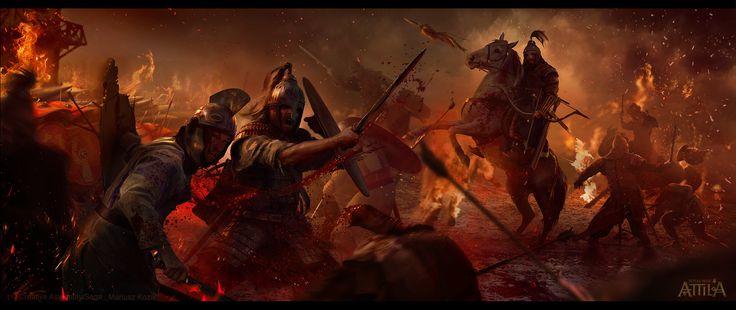 "ArtStation - ""Blood & Burning"" for Total War: Attila, Mariusz Kozik"