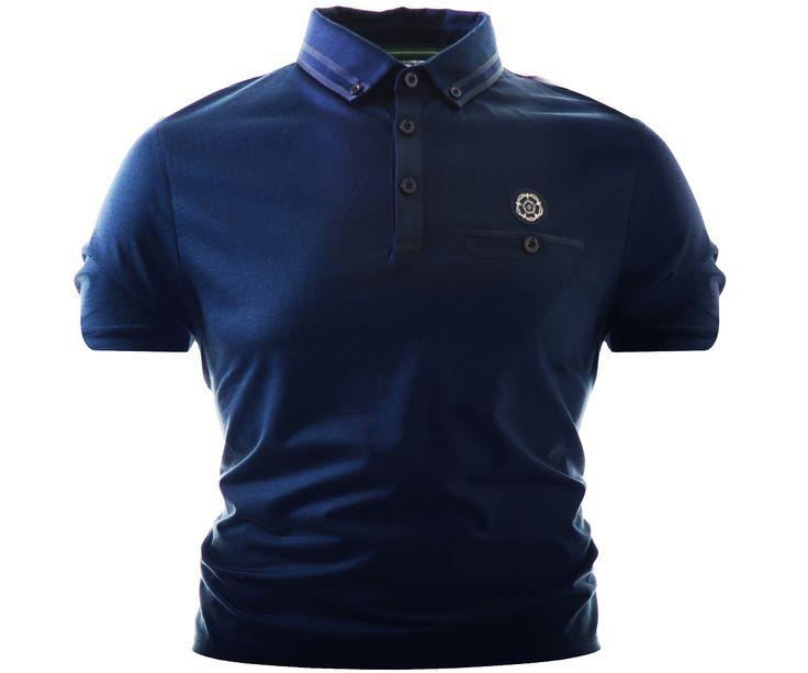 Nicholas Deakins Ironside Polo Shirt Navy