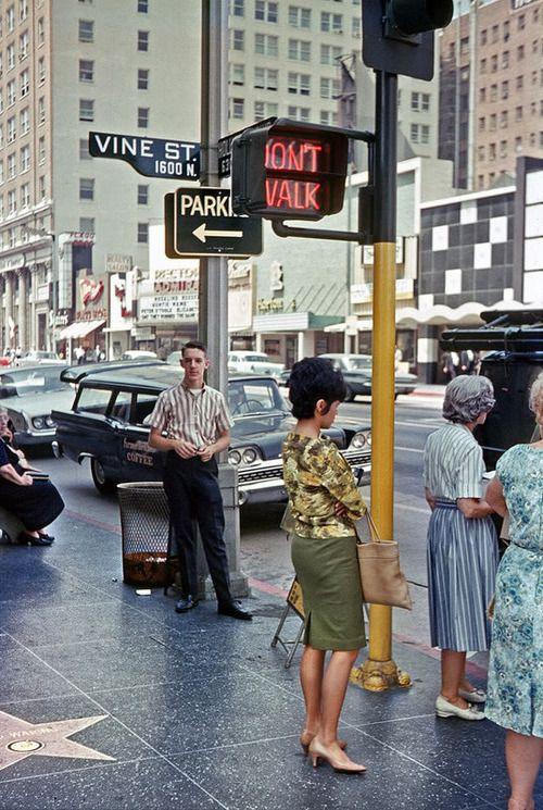 Vine Street, Hollywood, 1960s1963 Things, 1960S Los, Vintage, Losangeles, Vines Street, Hollywood, Los Angels, About 1960S, 1960 S