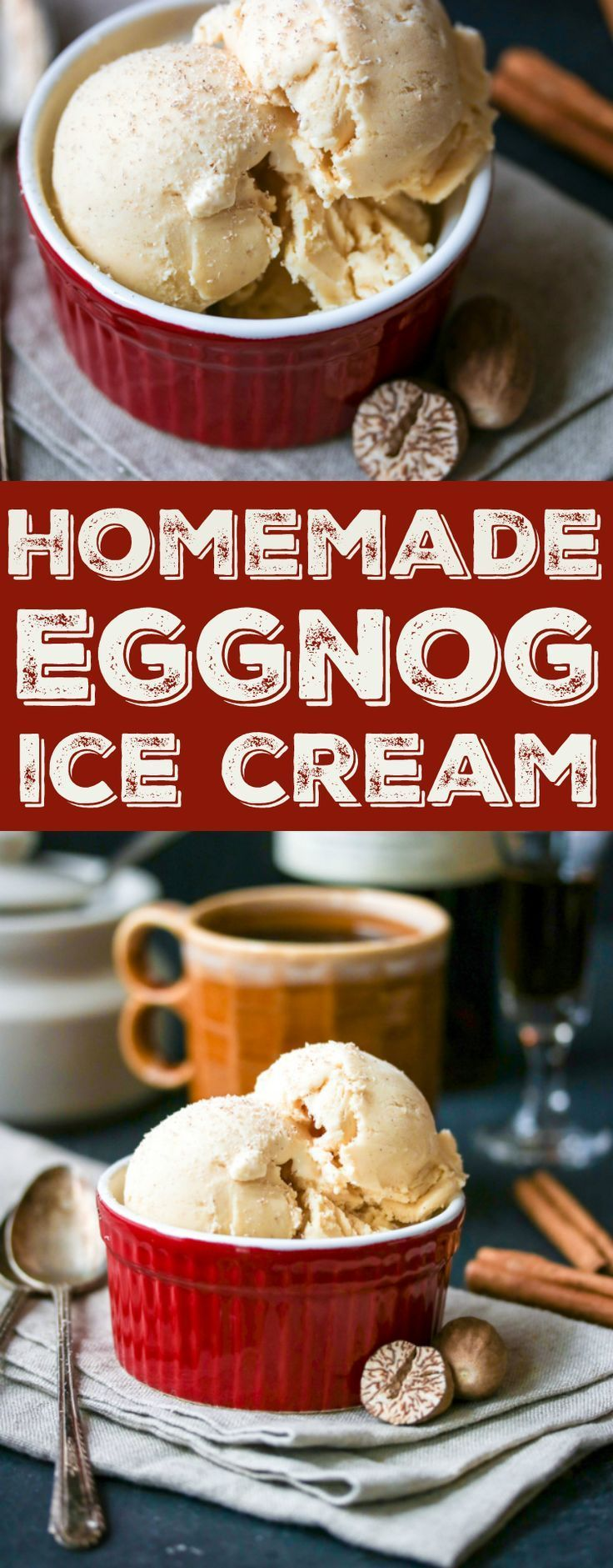 How to make eggnog ice cream using whatever you have leftover -- store bought or homemade!