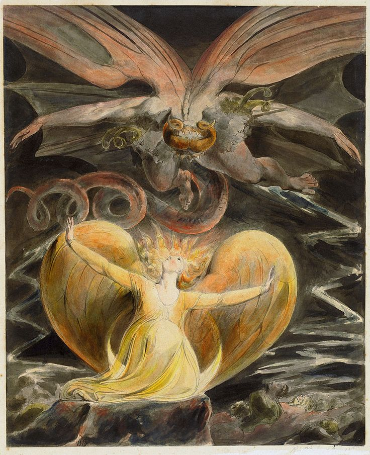 William Blake 003 - Le Grand dragon rouge et la femme habillée de soleil