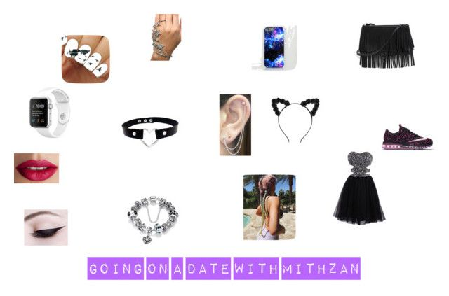 """""""Going on a date with mithzan"""" by emmapkerr5 on Polyvore featuring NIKE, White House Black Market, Otis Jaxon and TheBalm"""
