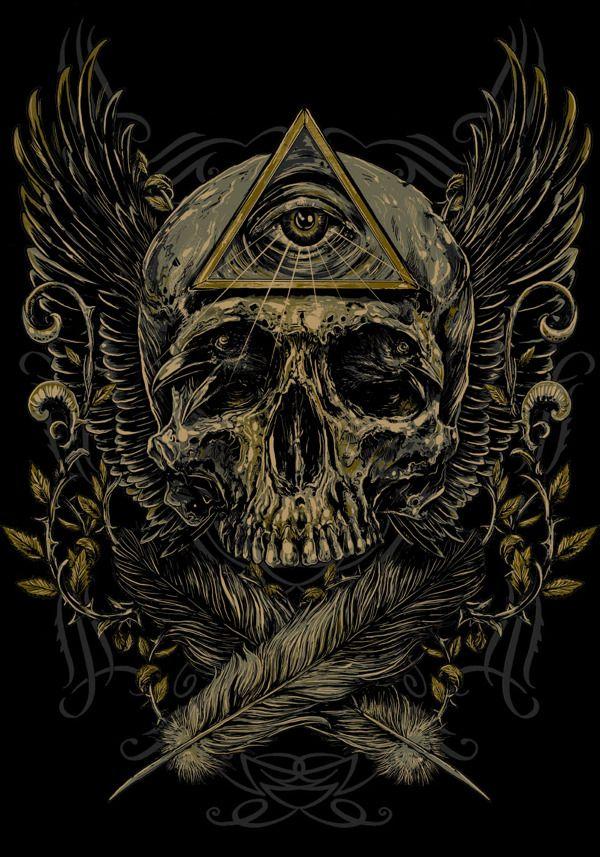 SKULLS(t-shirt designs) by Rafal Wechterowicz, via Behance