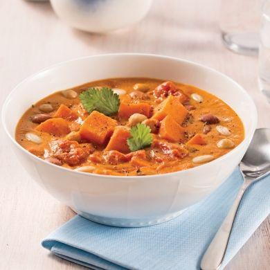 Soupe-repas aux haricots et patates douces au cari - Recettes - Cuisine et nutrition - Pratico Pratique