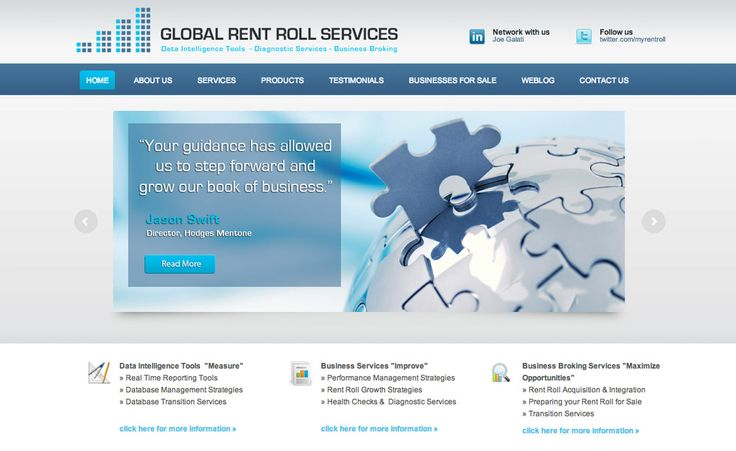 Global Rent Roll Services Wordpress CMS Website with Blog Creative Clarity