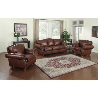 Shop for Brandon Distressed Whiskey Top Grain Italian Leather Sofa and Two Chairs. Get free delivery at Overstock.com - Your Online Furniture Shop! Get 5% in rewards with Club O! - 13278846