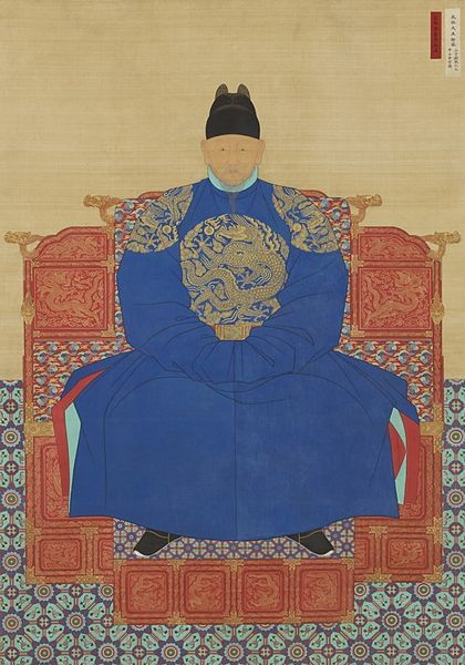 Taejo of Joseon, the founder and the first king of the Joseon Dynasty of Korea, and the main figure in overthrowing the Goryeo Dynasty. He was posthumously raised to the rank of Emperor in 1899 by Gojong, the Gwangmu Emperor, who had proclaimed the Korean Empire in 1897.