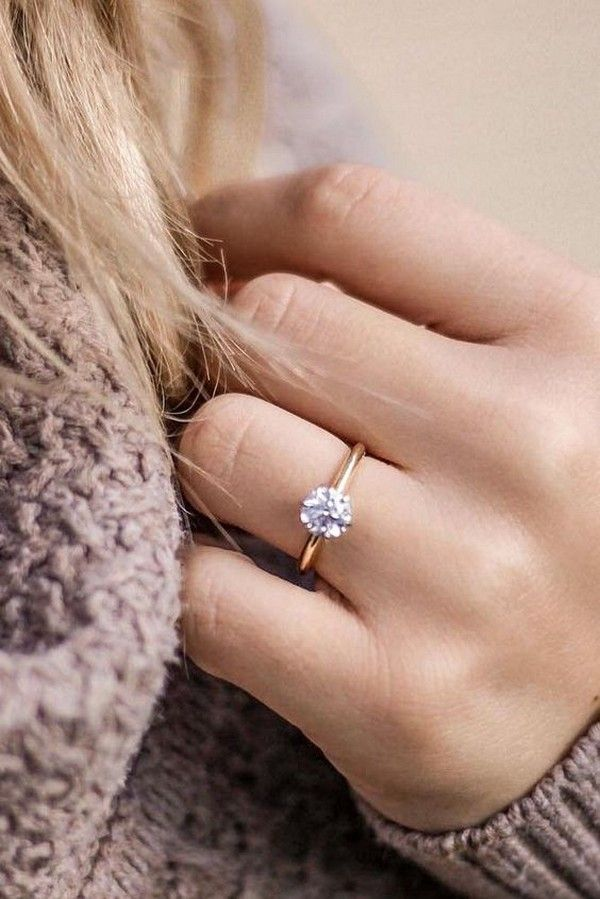 15 Simple Classic Wedding Engagement Rings Beautiful Rose Gold