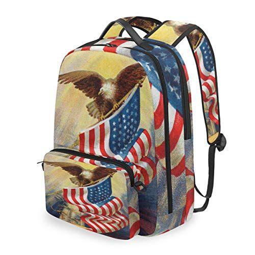 Lustiger Vintage USA American Flag Adler Rucksack …