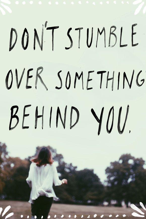 Monday Quote: Don't Stumble