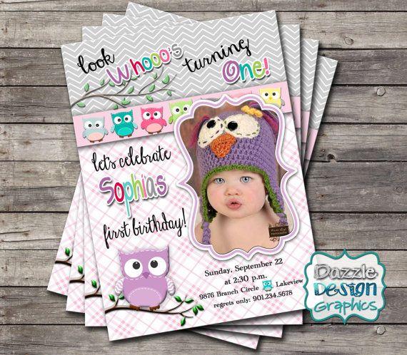 en iyi 17 fikir, owl birthday invitations pinterest'te, Birthday invitations