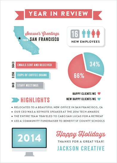creative business holiday cards | Happy Infographic business holiday card by Hooray Creative