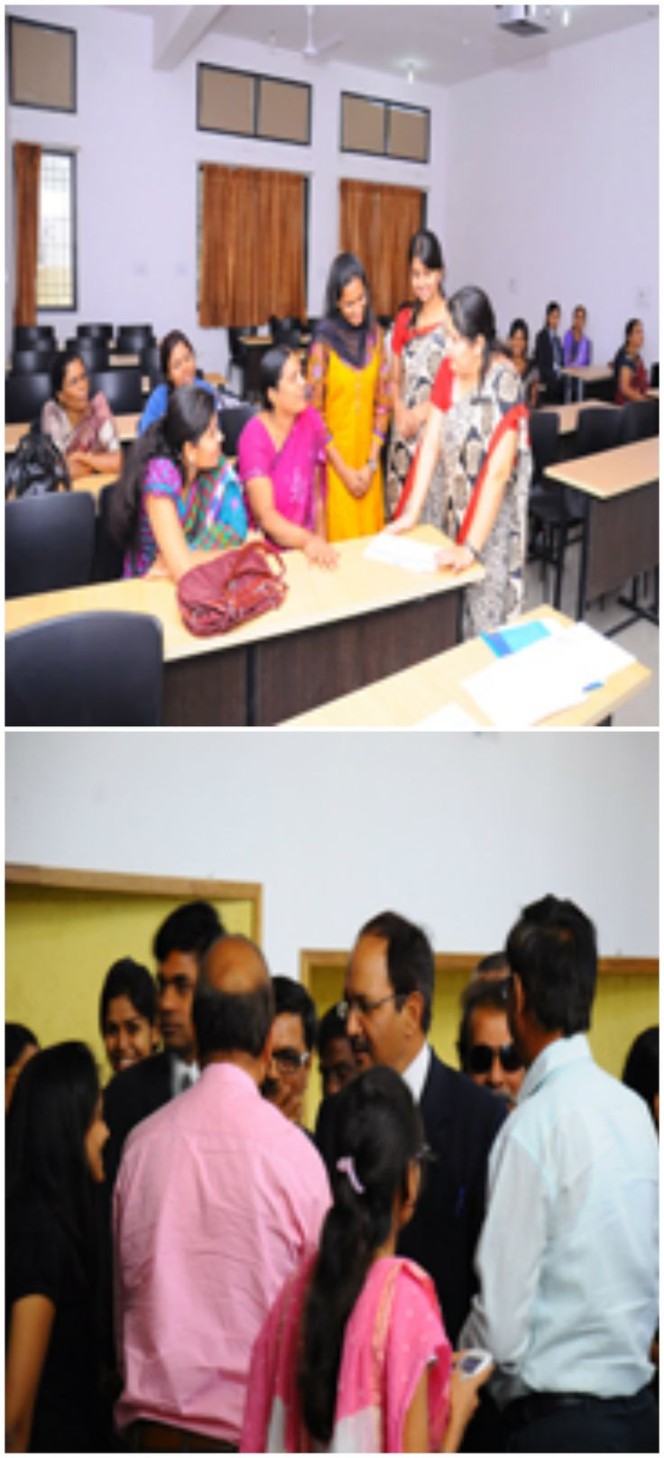 Faculty members #speaking to parents regarding their #ward's #performance and there was an #informal #interaction with #parents as well.