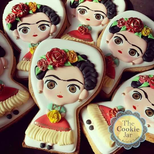 Galletas Frida Kahlo cookies