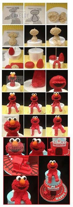.how to make an #elmo cake #birthdaypartyideas