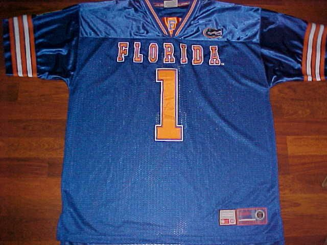 Colosseum Athletics NCAA SEC Florida Gators 1 Blue Orange Football Jersey XL…