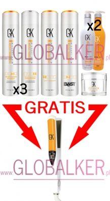 Global Keratin Treatment set THE BEST 300ml. GKhair Juvexin sklep warszawa. Oferta dla salonów Free Iron