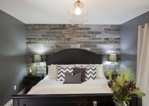 Love it or list it vancouver get the look gordo and for Grey feature wallpaper bedroom